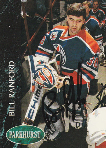 Bill Ranford Autograph 1992-93 Parkhurst Hockey Card