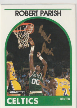 Robert Parish Autograph 1989-90 NBA Hoops Basketball Card
