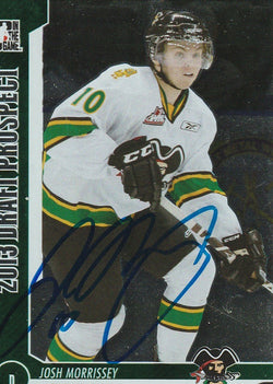 Josh Morrissey Autograph 2013 Heroes and Prospects Hockey Card