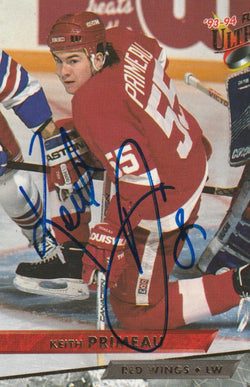 Keith Primeau Autograph 1993-94 Fleer Ultra Hockey Card