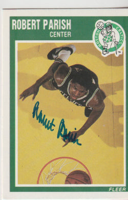 Robert Parish Autograph 1989-90 Fleer Basketball Card