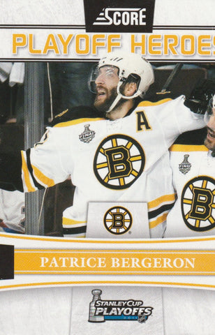 Patrice Bergeron 2011-12 Score - Playoff Heroes #9