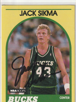 Jack Sikma Autograph 1989-90 NBA Hoops Superstars Basketball Card