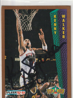 Kenny Walker Autograph 1992-93 Fleer Basketball Card