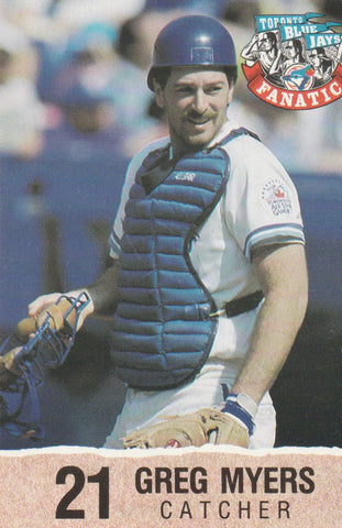 Greg Myers 1992 Toronto Blue Jays Fire Safety #21