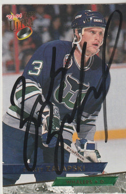 Zarley Zalapski Autograph 1993-94 Fleer Ultra Hockey Card