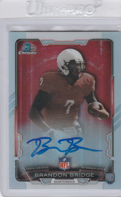 Brandon Bridge 2015 Bowman Chrome Rookie Autographs Refractor #RCRA-BB