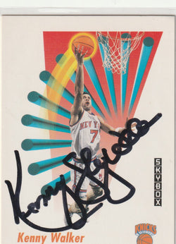 Kenny Walker Autograph 1991-92 Skybox Basketball Card