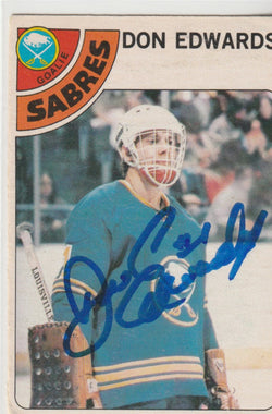 Don Edwards Autograph 1978-79 O-Pee-Chee Hockey Card