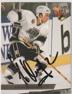 Alexei Zhitnik Autograph 1993-94 Fleer Ultra Hockey Card