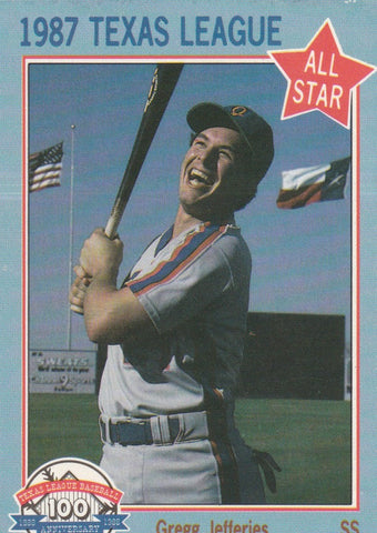 Gregg Jefferies 1987 Feder Texas League All Stars #11