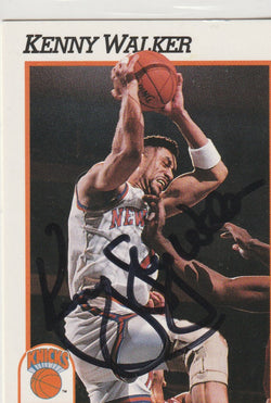 Kenny Walker Autograph 1991-92 NBA Hoops Basketball Card