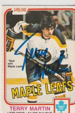 Terry Martin Autograph 1981-82 O-Pee-Chee Hockey Card