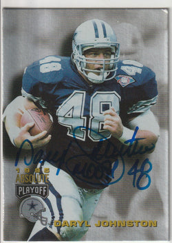 Daryl Johnston Autograph 1995 Absolute Playoff Football Card