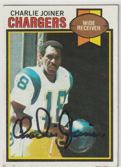 Charlie Joiner Autograph 1979 Topps Football Card