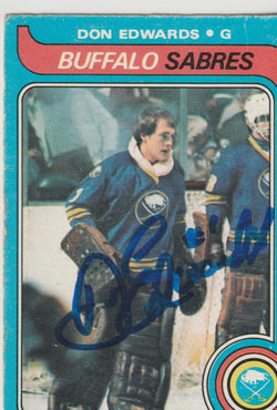 Don Edwards Autograph 1979-80 O-Pee-Chee Hockey Card