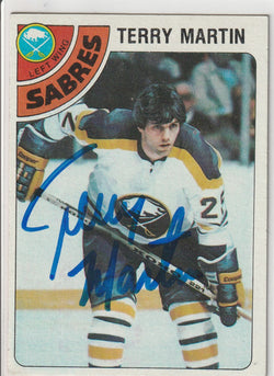 Terry Martin Autograph 1978-79 O-Pee-Chee Hockey Card