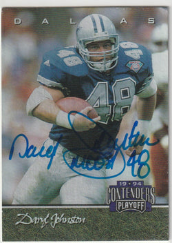 Daryl Johnston Autograph 1994 Contenders Playoff Football Card