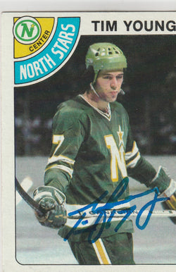 Tim Young Autograph 1978-79 Topps Hockey Card