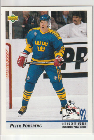 Peter Forsberg 1992-93 Upper Deck #375