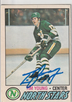 Tim Young Autograph 1977-78 O-Pee-Chee Hockey Card