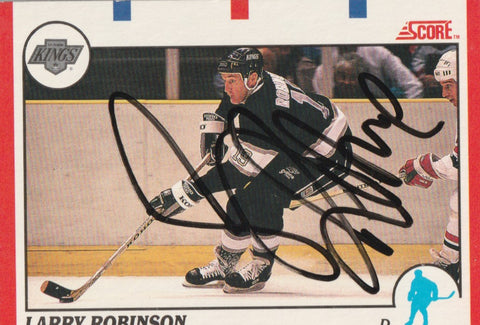 Larry Robinson Autograph 1990-91 Score Hockey Card