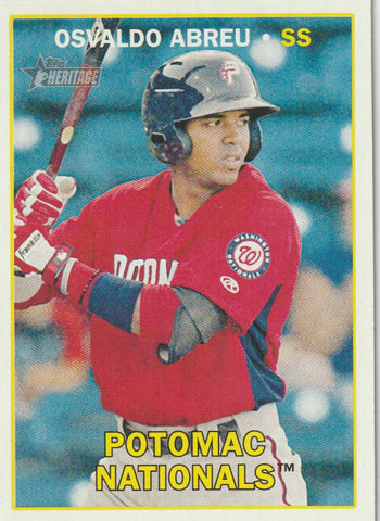 Osvaldo Abreu 2016 Topps Heritage Minor League Edition #57