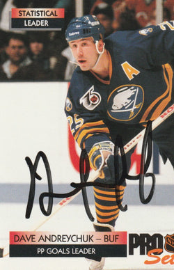 Dave Andreychuk Autograph 1992-93 Pro Set Hockey Card