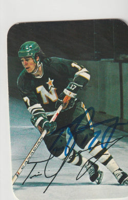 Tim Young Autograph 1976-77 O-Pee-Chee Hockey Card