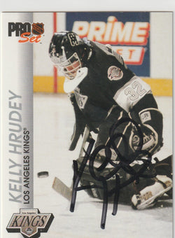 Kelly Hrudey Autograph 1992-93 Pro Set Hockey Card