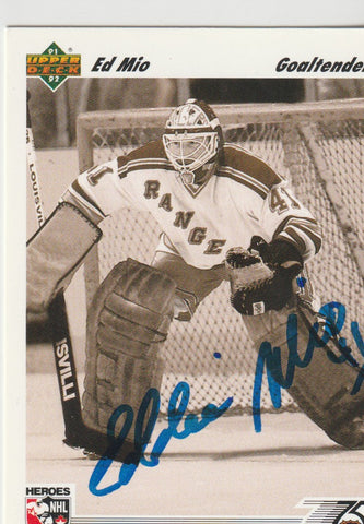 Ed Mio Autograph 1991-92 Upper Deck Hockey Card