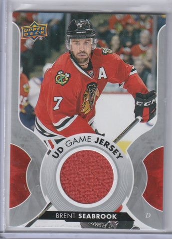 Brent Seabrook 2017-18 Upper Deck Hockey UD Game Jersey GJ-BS