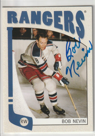 Bob Nevin Autograph 2005-06 In The Game Hockey Card
