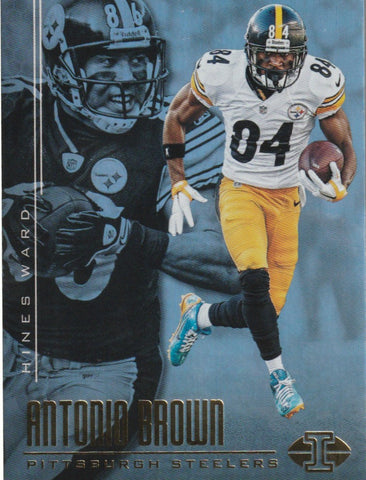 Antonio Brown 2017 Panini Illusions Football #89