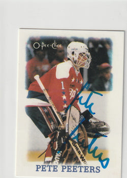 Pete Peeters Autograph 1988-89 O-Pee-Chee Hockey Card
