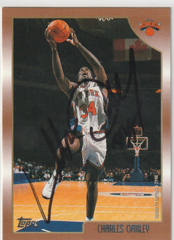 Charles Oakley Autograph 1998-99 Topps Basketball Card