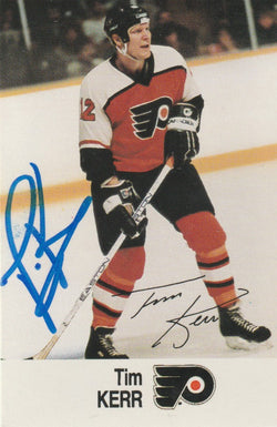 Tim Kerr Autograph 1988-89 Esso NHL All-Star Hockey Card