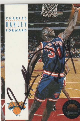 Charles Oakley Autograph 1993-94 Skybox Premium Edition Basketball Card