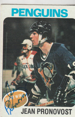 Jean Pronovost Autograph 1975-76 Topps Hockey Card