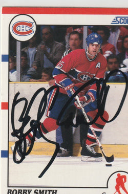 Bobby Smith Autograph 1990-91 Score Hockey Card