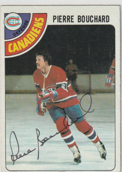 Pierre Bouchard Autograph 1978-79 Topps Hockey Card