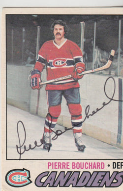 Pierre Bouchard Autograph 1977-78 O-Pee-Chee Hockey Card