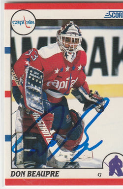 Don Beaupre Autograph 1990-91 Score Hockey Card