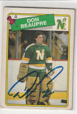 Don Beaupre Autograph 1988-89 O-Pee-Chee Hockey Card