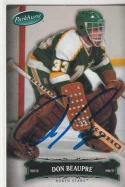 Don Beaupre Autograph 2006-07 Parkhurst Hockey Card