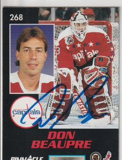 Don Beaupre Autograph 1992-93 Pinnacle Hockey Card