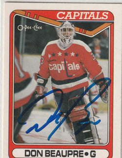 Don Beaupre Autograph 1990-91 O-Pee-Chee Hockey Card