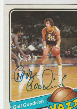 Gail Goodrich Autograph 1978-79 Topps Basketball Card