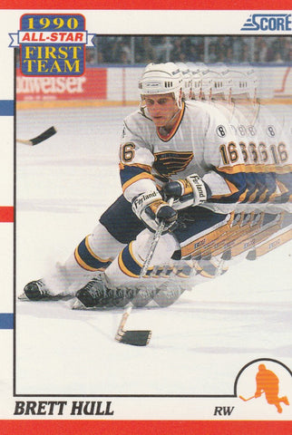 Brett Hull 1990-91 Score Hockey #317