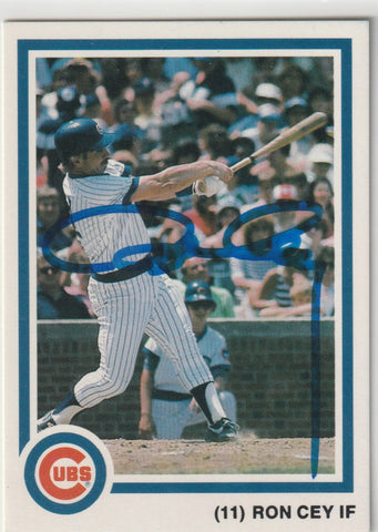 Ron Cey Autograph 1985 7-Up Chicago Cubs Baseball Card